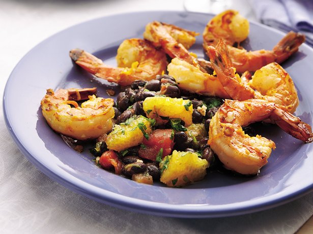 Calypso Shrimp with Black Bean-Citrus Salsa