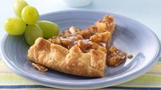 Pineapple Galette with Caramel-Rum Sauce Recipe