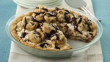 Chocolate Chip Cookie Ice Cream Pie