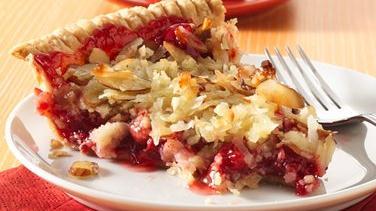 Almond Macaroon-Cherry Pie