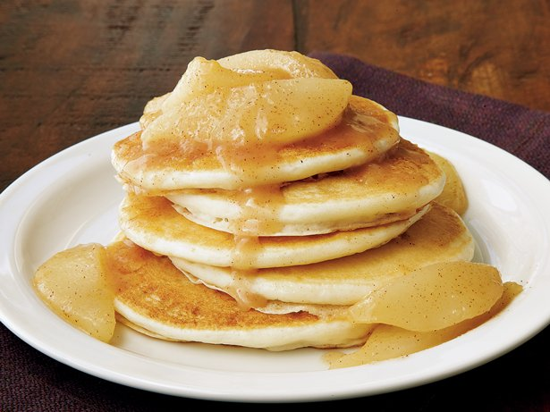 Pear-Topped Buttermilk Pancakes