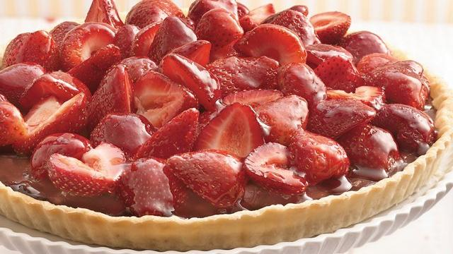 Chocolate-Strawberry Pie