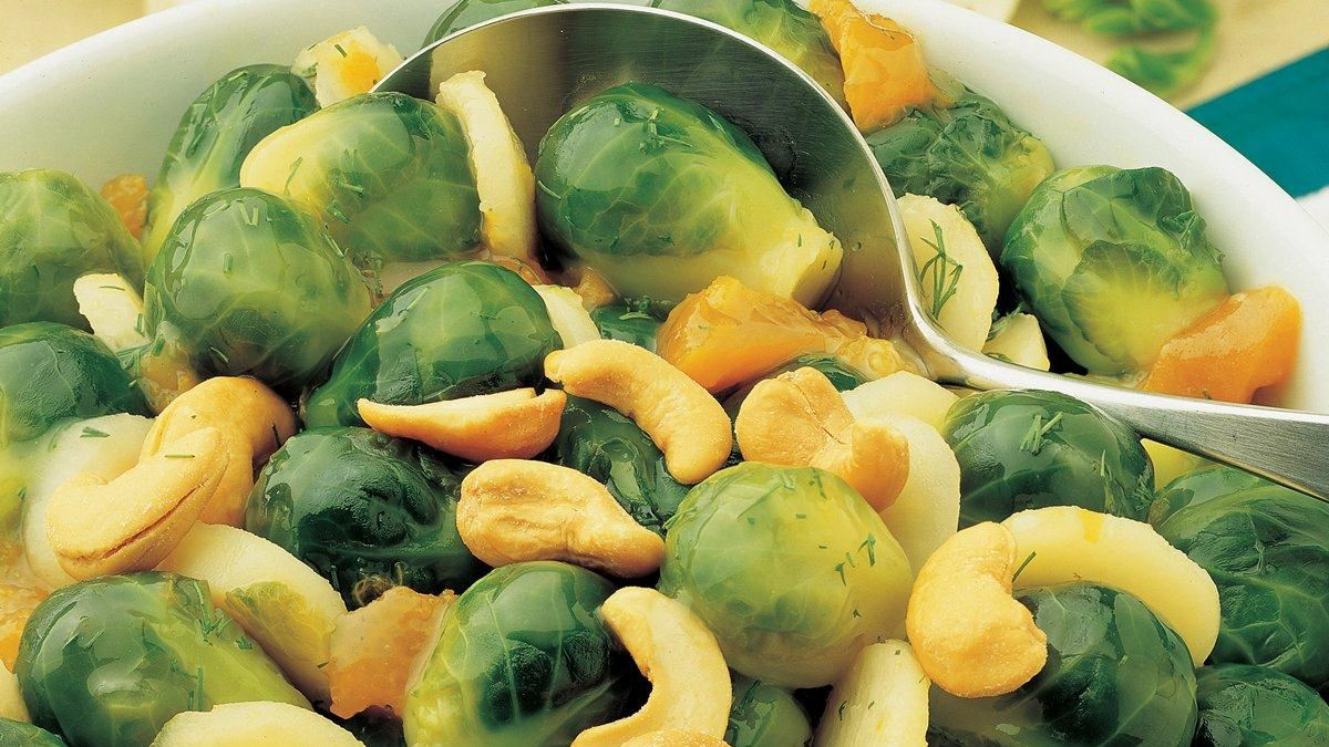 Apricot Glazed Brussel Sprouts