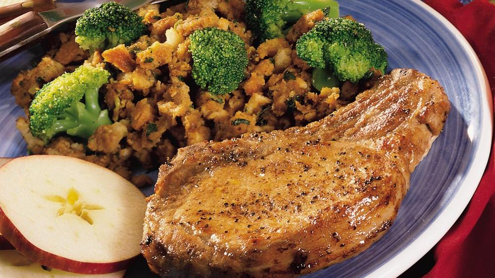 Easy Pork Chops with Stuffing recipe from Pillsbury.com