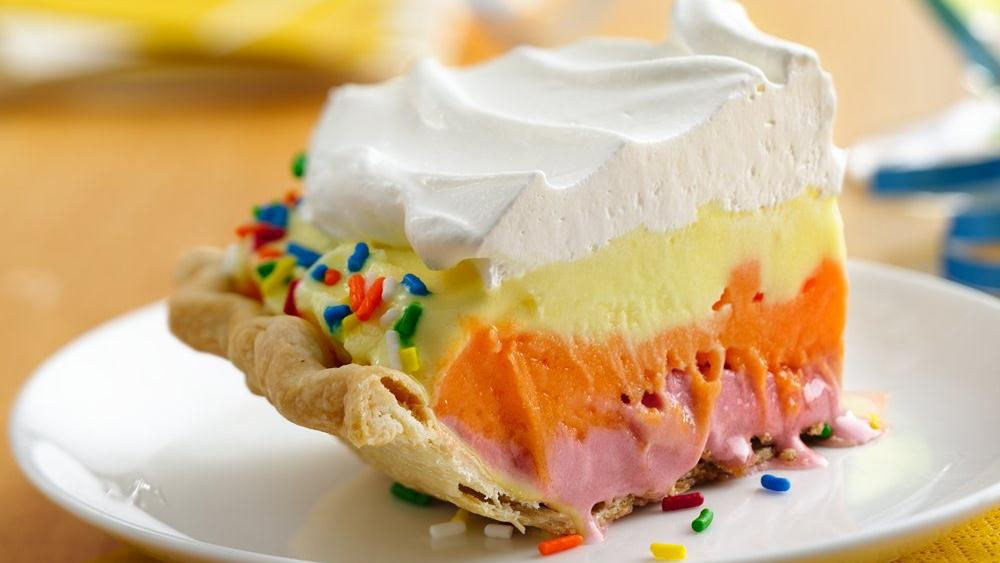 Sherbet Ombre Celebration Pie