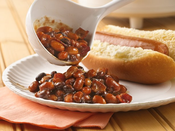 Slow Cooker Barbecued Beans