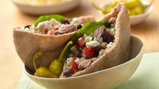 Greek Tuna Salad Pita Sandwiches with Feta Cheese Recipe