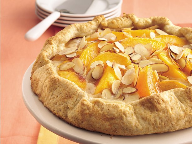 Image of Almond-peach Fold-over Coffee Cake, Betty Crocker