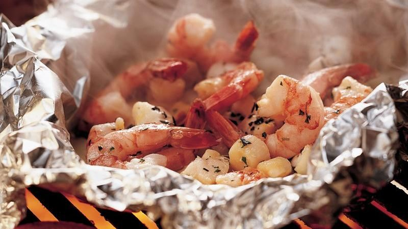 Grilled Herbed Seafood Packs