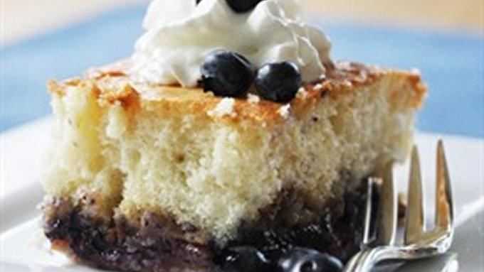 Fruit-Bottom Cake recipe - from Tablespoon!