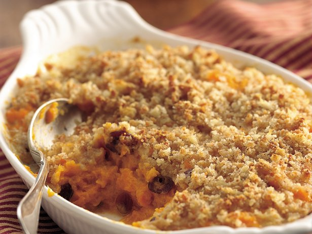 Squash and Cranberry Gratin