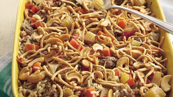 easy chow mein casserole recipe - from tablespoon!