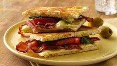 Bacon, Caesar and Mozzarella Panini Recipe