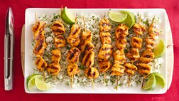 Healthy Grilled Sriracha Chicken with Garlic Cilantro Rice