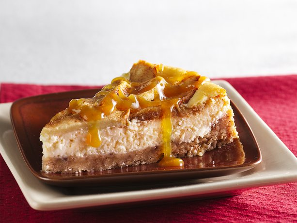 Image of Apple-topped Cheesecake With Caramel Topping, Betty Crocker