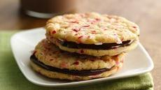 Peppermint Sandwich Cookies with Orange-Chocolate Filling Recipe