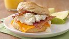 Bacon Cheddar Egg White Biscuit Sandwiches