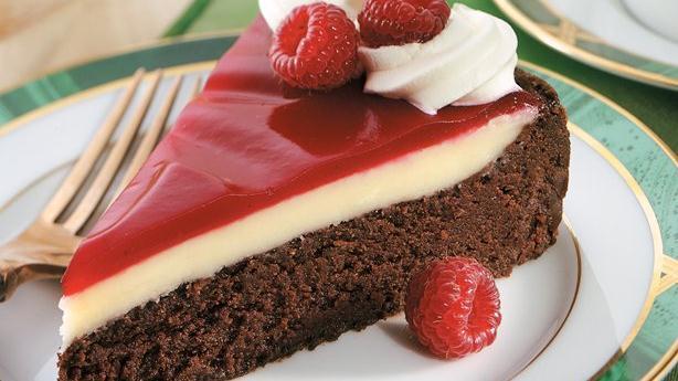 Vanilla-Mocha Cafe Cake With Cherries Jubilee Sauce Recipe ...