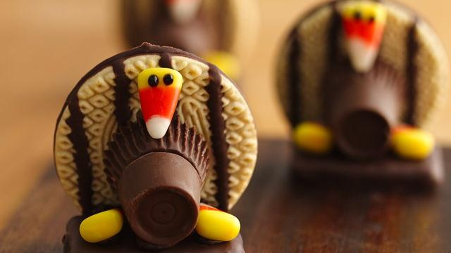 Cute Turkey Cookies