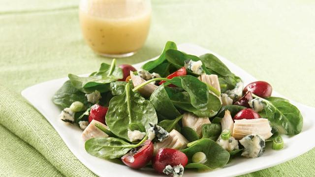 Rotisserie Chicken Salad with Cherries and Gorgonzola