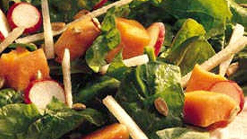 Papaya-Spinach Salad
