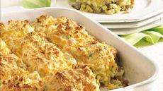 Sausage 'n Apple Cheddar Biscuit Bake Recipe