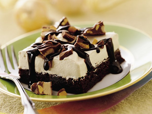 Maple Cream Brownie Dessert
