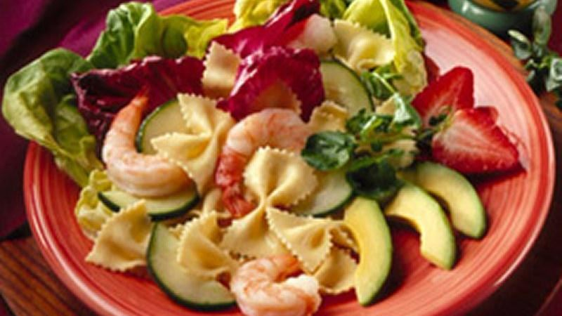 Shrimp Pasta Salad With Fresh Fruit Salsa recipe from Betty Crocker