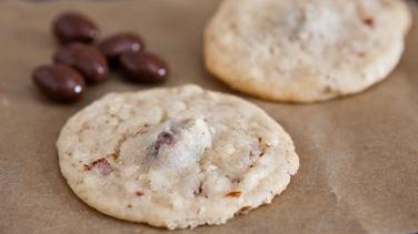 Chocolate Covered Almond Stuffed Cookies