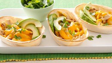 Cheesy Chicken and Bean Ten Minute Taco Boats