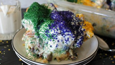 King Cake Bread Pudding