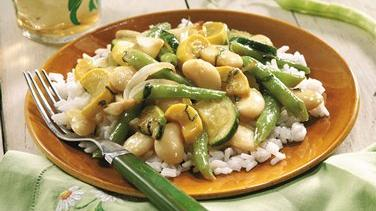 Summer Squash and Bean Sauté