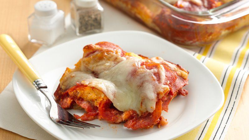 Gluten-Free Impossibly Easy Pizza Bake