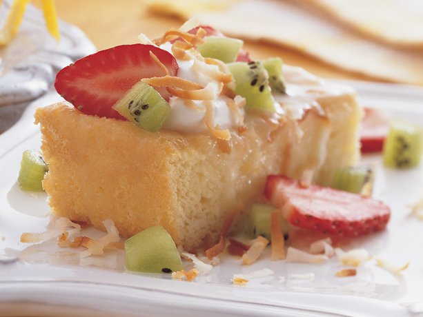 Tres Leches De Coco (Coconut Tres Leches Cake) Recipe — Dishmaps