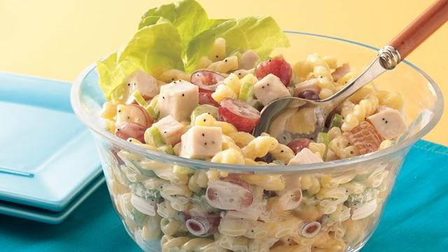 Chicken Pasta Salad with Poppy Seed Dressing
