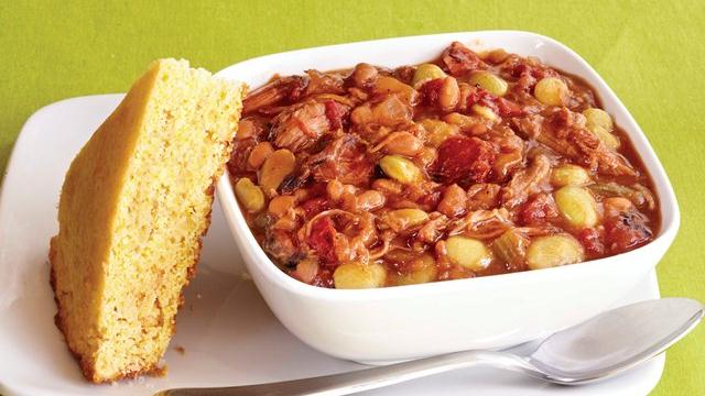 Slow Cooker Pork and Bean Stew