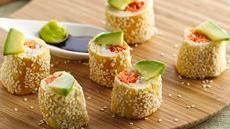 Salmon Crescent Sushi Rolls Recipe