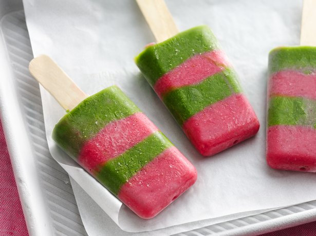 Strawberry Green Smoothie Pops
