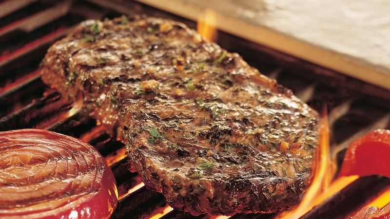 Grilled Herb-Crusted Top Loin Steaks