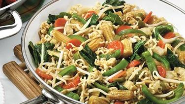 Teriyaki Vegetable Stir-fry with Ramen Noodles