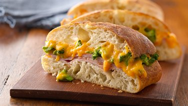 Broccoli Cheesy Ham Panini