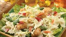 Crispy Fish-Asian Pasta Salad Recipe