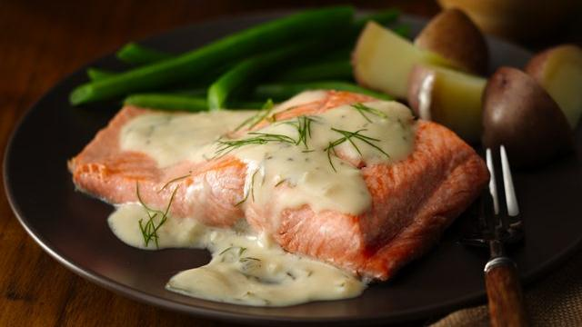 Lemon Garlic Dilled Salmon 