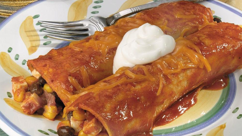 Tofu Black Bean Enchiladas
