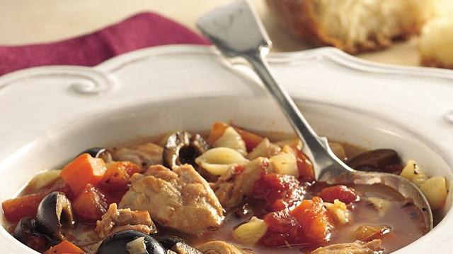 Slow Cooker Italian Chicken-Pasta Soup