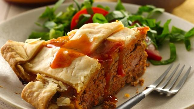 Enchilada Meat Loaf Pie