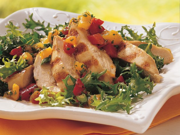 Image of Apricot Salsa Grilled Chicken Salad, Betty Crocker