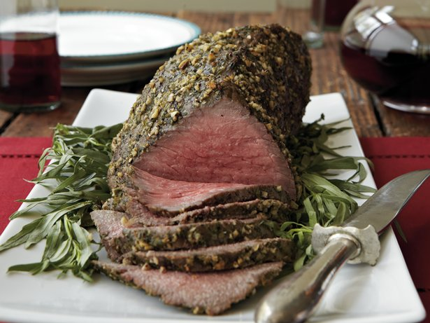 Tarragon-Crusted Roast Beef