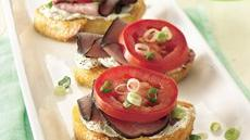 Roast Beef Bruschetta Recipe