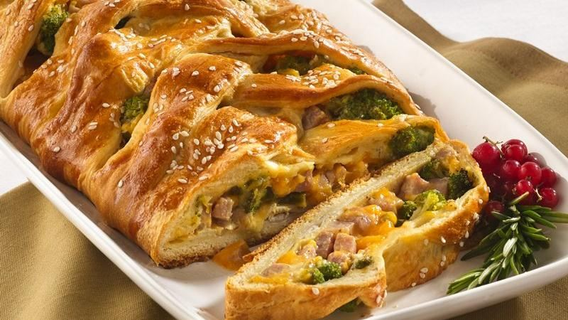Turkey and Ham Crescent Braid